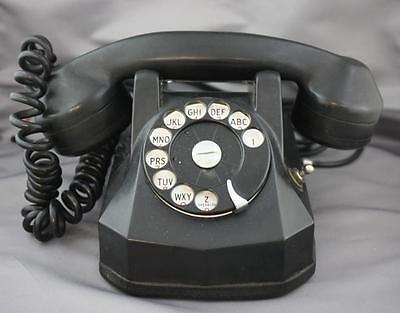 Automatic Electric Co. Desk Phone Rotary Dial Hold Toggle Switch Art Deco Rotary Dial Switch