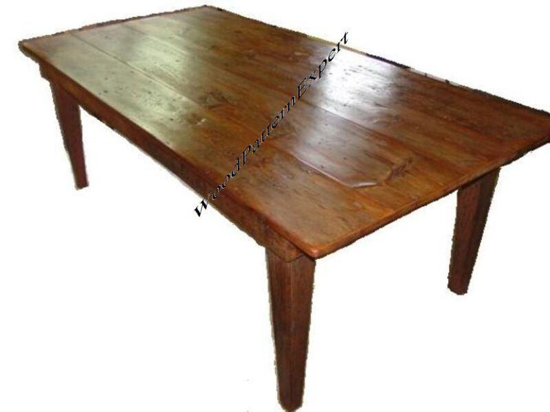 HARVEST TABLE Paper Plans EASY DIY PATTERNS Build Your Dining Set 6' To 10' Long