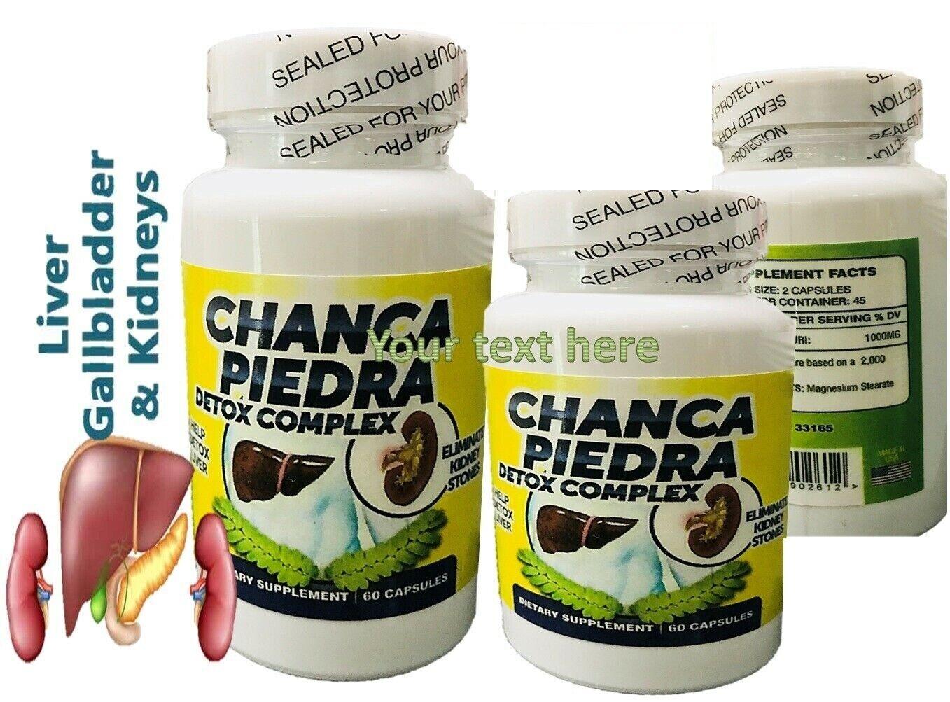 2 BOTTLES Chanca Piedra free BULK HERB organic natural potent QUEBRA PEDRA caps