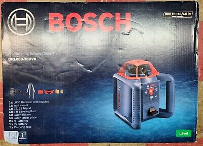 Bosch Grl80020hvk Self Leveling 800ft Rotary Laser Kit New