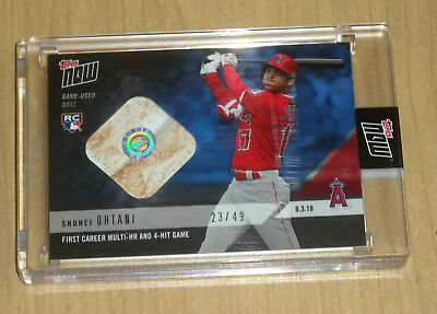 2018 Topps NOW online Shohei Ohtani rookie game used BASE 1st multi home run