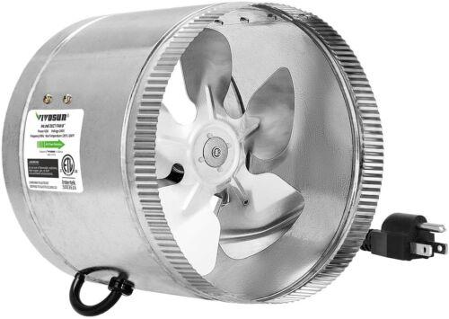 """VIVOSUN 4"""" 6"""" 8"""" 100 204 420 CFM Inline Duct Fan HVAC Exhaust  Fan Low Noise"""