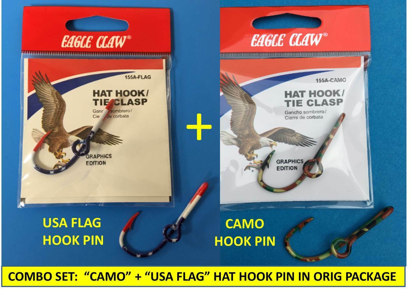 b9d1ef795afe2 BONUS OFFER  BUY TWO (2) OR MORE SETS AND GET A FREE GOLD-PLATED FISH HOOK  HAT PIN AS WELL!
