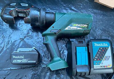 Greenlee Gator Ek1240l 12 Ton Cordless Crimper Tool W Battery Charger