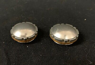 Pair of Campagnolo Record Chromed Plastic Pedal Dust Caps Classic Era