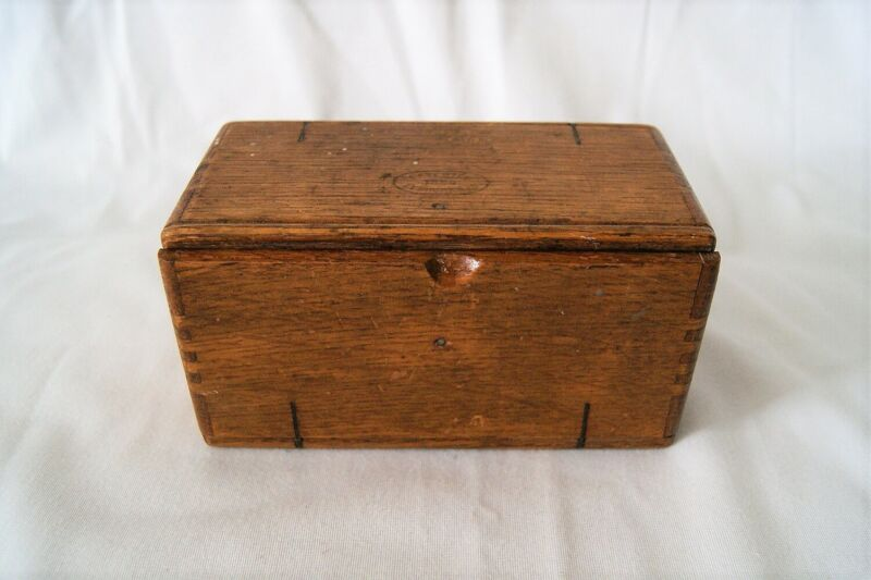 1889 Patented Antique Singer Sewing Machine Wood Box Puzzle Roll Up Box