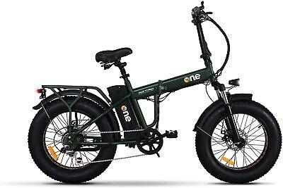 The One Bicicletta elettrica Pieghevole Fat Bike 250 W 30km Verde One Nitro BICI