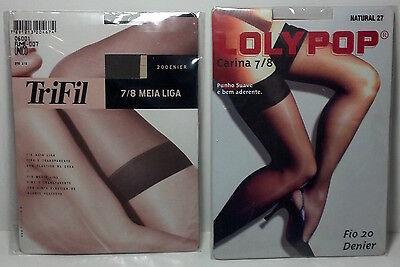 2 Pair of Brazilian Nylon Stockings. Unopened. Size 7/8. Lolypop / TriFil brands