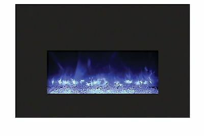 Amantii INSERT-26-3825-BG Insert Series Electric Fireplace with Ember Media Kit,