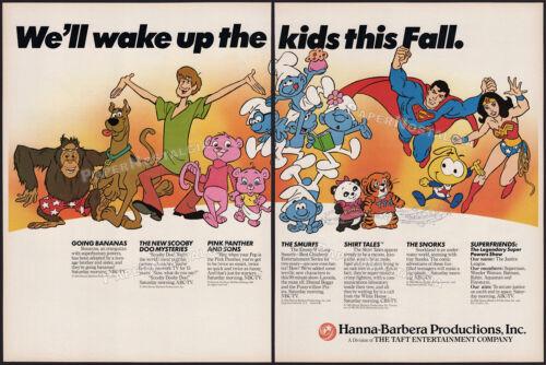HANNA-BARBERA__Original 1984 Trade AD / poster__Scooby Doo__Smurfs__Superfriends