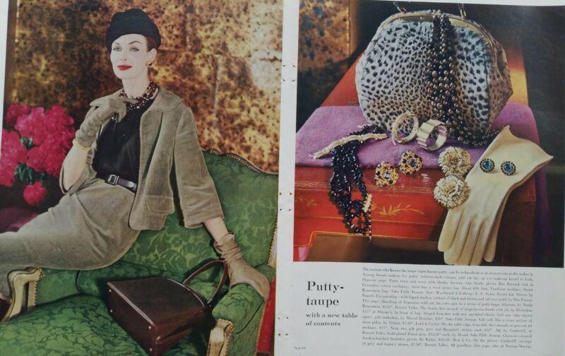 1959 Marcel Boucher Richelieu Trifari castlecliff Monet vintage jewelry ad