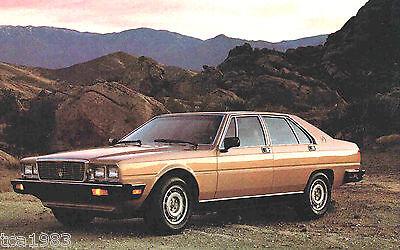 1981?1982 Maserati QUATTROPORTE large Post Card frm? Brochure