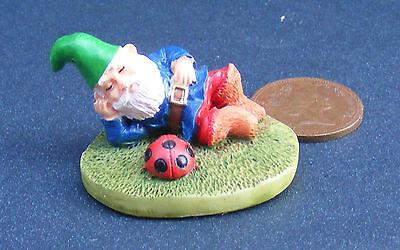 A Garden Gnome (lazy) Dolls House Miniature Garden 1:12 Scale Accessory