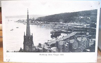 Scottish Postcard ROTHSAY FROM CHAPEL HILL Scotland F.B.G. udb Matte Photo UK