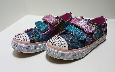 Zapatillas de niña con purpurina,color Vaquero(Nº 26,27,28,29 y 30)