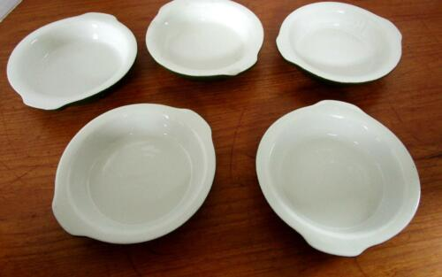 Set of 5 Vintage Hall Casserole Gratin Restaurant Ware #512 in Green USA Made 6""