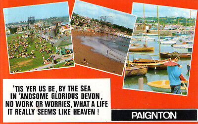 England - Devon  -  Paignton - Beach - Lawn - Pier - Watersport  -  1975 for sale  Shipping to Nigeria