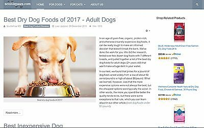 Pet Product Reviews Affiliate Domain And Website Scuttlepaws.com