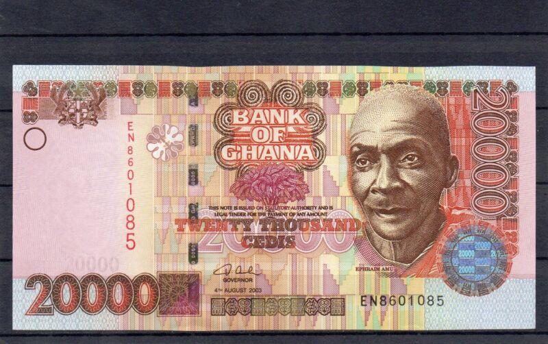 GHANA Africa 20000 Cedis UNC 2003 p-36b