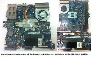 Motheboard HP Probook 4320s CPU Intel i3 - SN MB: 599520-001 599523-001 - Italia - Motheboard HP Probook 4320s CPU Intel i3 - SN MB: 599520-001 599523-001 - Italia