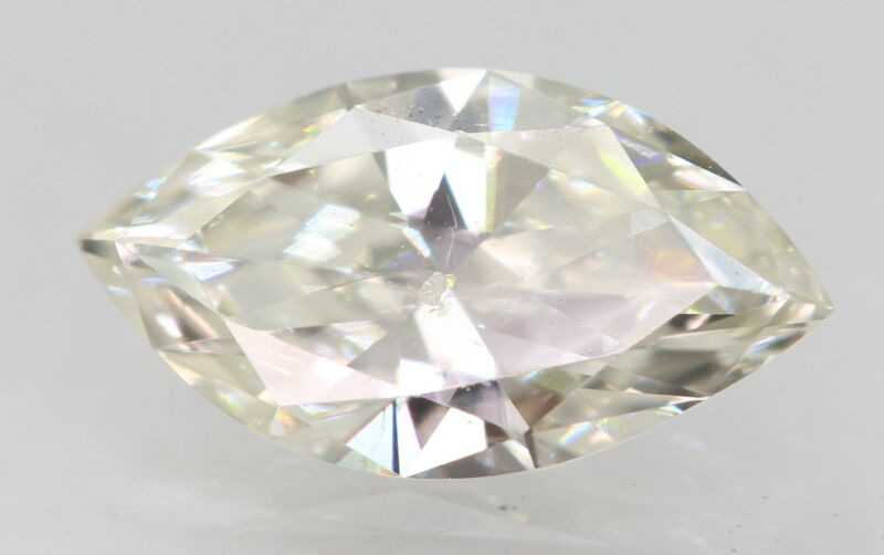 Certified 0.48 Carat I VS2 Marquise Enhanced Natural Loose Diamond 8.19x4.48mm