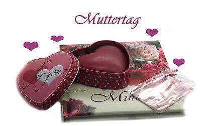 Muttertag Geschenkset Buch Herzdose Seife Karte Geschenkidee (Buch Tag Ideen)