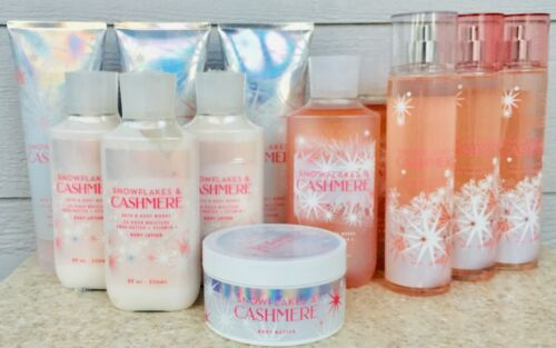 SNOWFLAKES & CASHMERE Shower Gel Wash Cream Lotion Butter Mist LOT/SET x1 x2 x3
