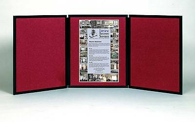 Folding 3 Panel 67 X 29 Wine Tabletop Display For Use With Velcro Hook Tape