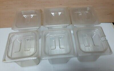 """6PK CLEAR 1826SCCW 18/"""" X 26/"""" CAMBRO CAMWEAR SLIDING LID FOR FOOD STORAGE BOXES"""