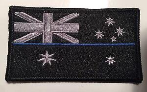 Thin Blue Line Patch, Police, Subdued Black, Law Enforcement, TBL