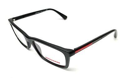 New Prada VPS 02C 1BO-1O1 Matte Black Men's Authentic Eyeglasses Frame (Prada Frames For Men)