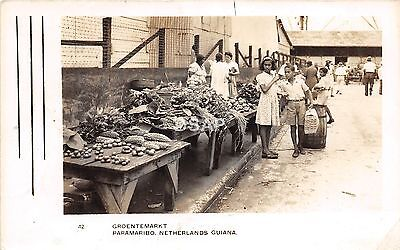 C53/ Paramaribo Netherlands Guiana Foreign RPPC Postcard Market Natives