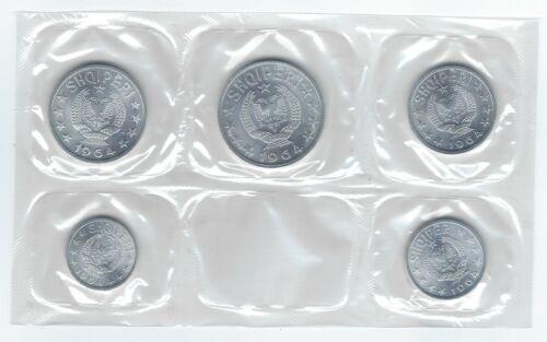 Albania 5 coin 1964 Uncirculated Set - Choice BU