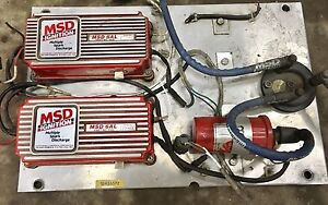 MSD 6AL ignition boxes and coil.