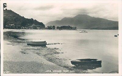 Real photo Loch lomond from luss JB white