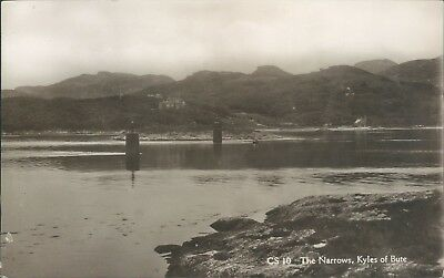 Real photo Kyles of bute the narrows