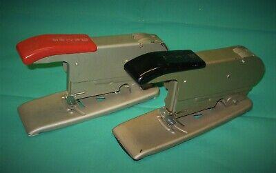 Lot Of 2 Vintage Heavy Duty Bates Staplers