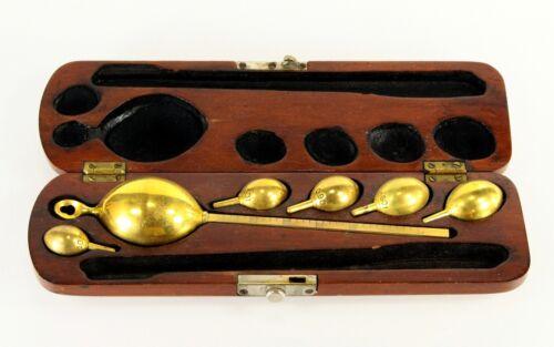 = Antique Customs & Excise Saccharometer / Hydrometer in Mahogany Case, British
