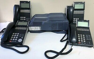 Nec Sv8100 Chs2u-us Phone System With Wall Mount And 4 Dt300 Phones - Working