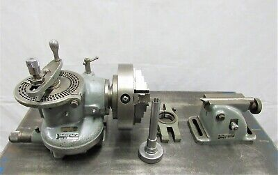 10 Van Norman Horizontal Swivel Dividing Head And Tailstock Id C-093