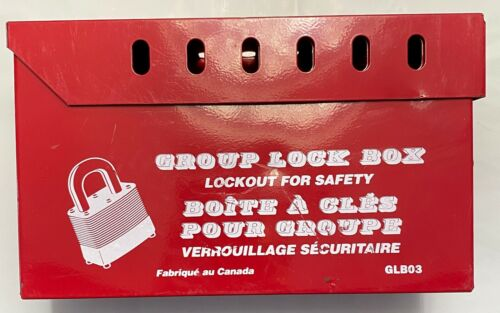 NORTH SAFTEY HONEYWELL GROUP LOCK BOX GLB03 RED STEEL LOCKOUT BOX FOR 13 LOCKS
