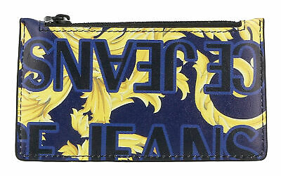 Versace Jeans Couture Navy/Gold Baroque Print Cardholder
