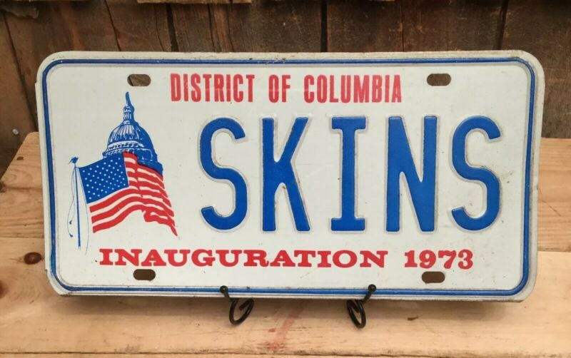 Vintage District Of Columbia 1973 Inauguration Auto Vanity License Plate # SKINS