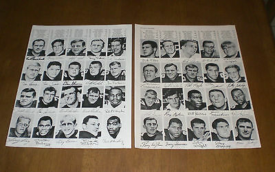 Two 1967 Atlanta Falcons Team Roster Prints