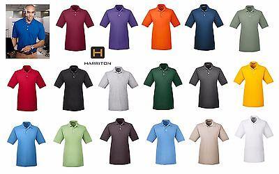Harriton Men's Easy Blend Wrinkle Resistant Polo Shirt  XS-6XL M265 - Harriton Mens Easy Blend