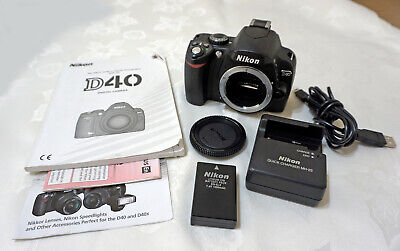NIKON D40 DIGITAL SLR CAMERA BODY + BUNDLE  EXCELLENT CONDITION