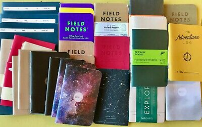 LOT OF 42 NEW NOTEBOOKS: Field Notes, Word, Baron Fig, Moleskin, OTHERS, Limited