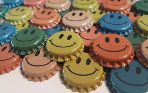 100 Smiley Home Brew Beer Bottle Caps Decoration Art Crafts