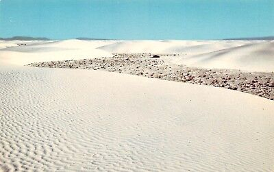 Postcard Nm Ripples White Sands National Monument New Mexico Unposted Pc