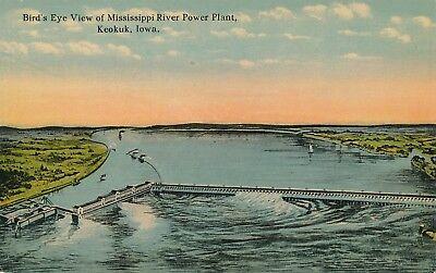Keokuk Ia   Mississippi River Power Plant Birdseye View